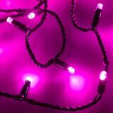 Светодиодная гирлянда ARD-STRING-CLASSIC-10000-BLACK-100LED-FLASH PINK (230V, 7W)